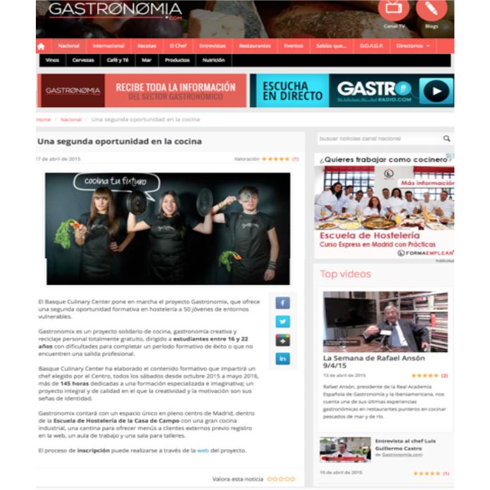 Gastronomix en gastronomía y cia