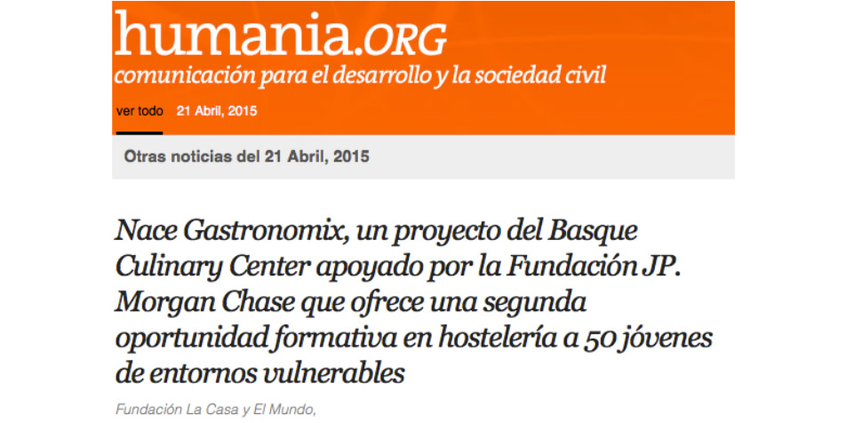 humania.org y proyecto gastronomix
