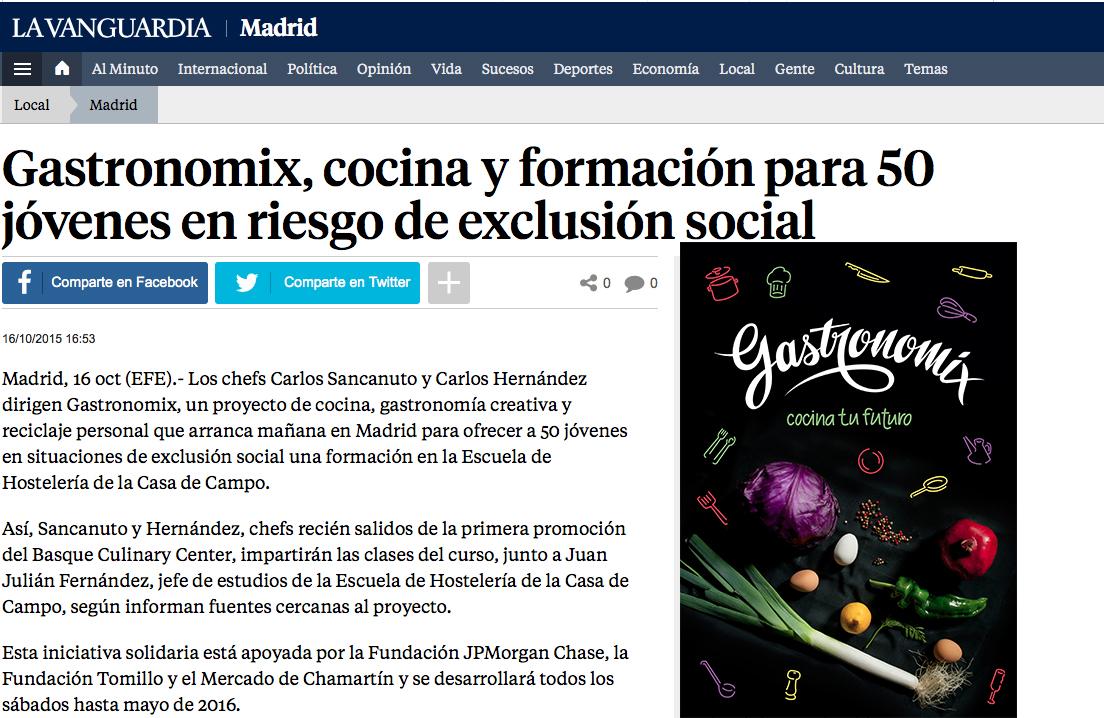 Gastronomix en La Vanguardia